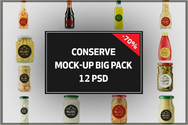 Conserve Sauce Bottles Mockup Bigpack