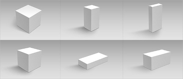 Container Package Box Mockups