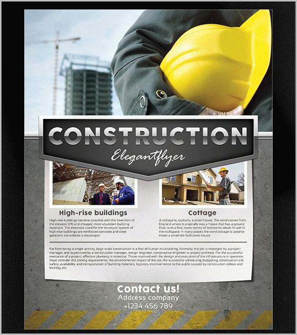 31  construction flyer templates