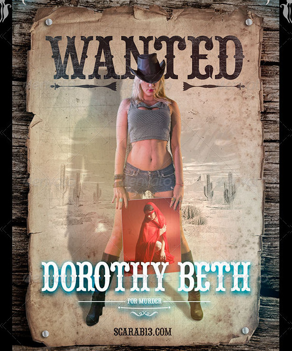 Cowgirl Wanted Posters