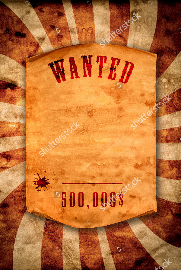 Curled Edge Wanted Posters