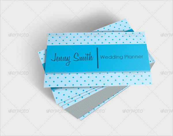 Designed Wedding Planner Business Card