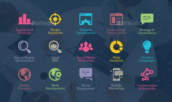 Development Seo Icons