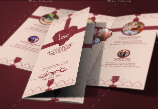 Elegant Trifold Wedding Invitation