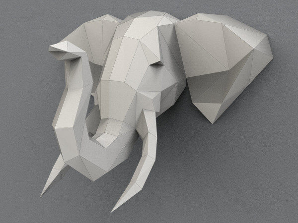 Elephant Art Paper Animal