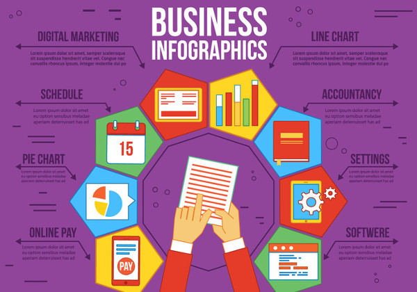 Free Business Timeline Vector Infographics