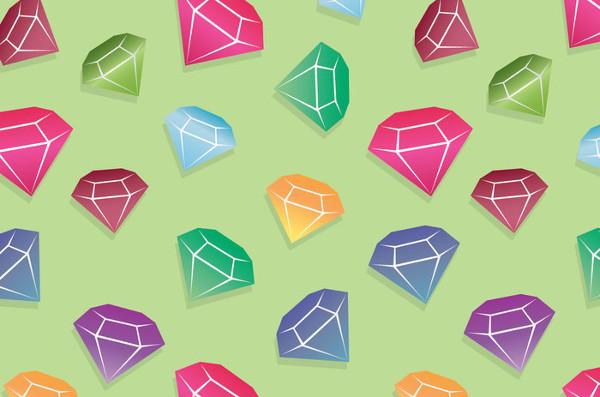 Free Colorful Diamond patterns