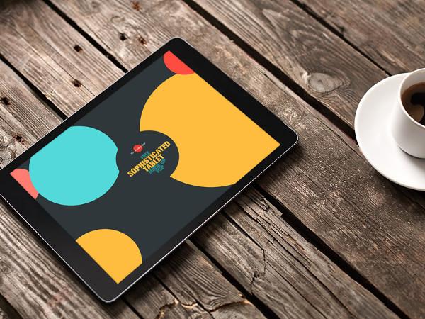 Free Sophisticated Tablet Mockup