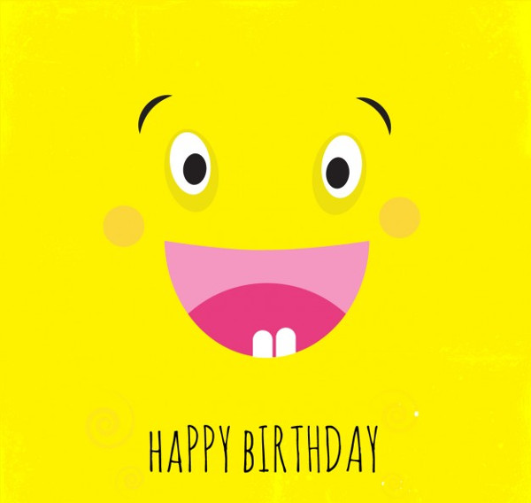 Funny Yellow Cartoon Birthday Invitation