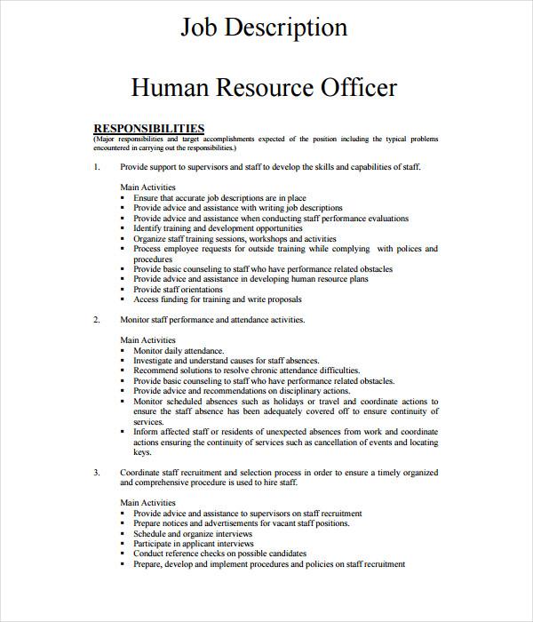21  job description templates