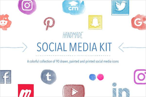 Handmade Social Media Icon