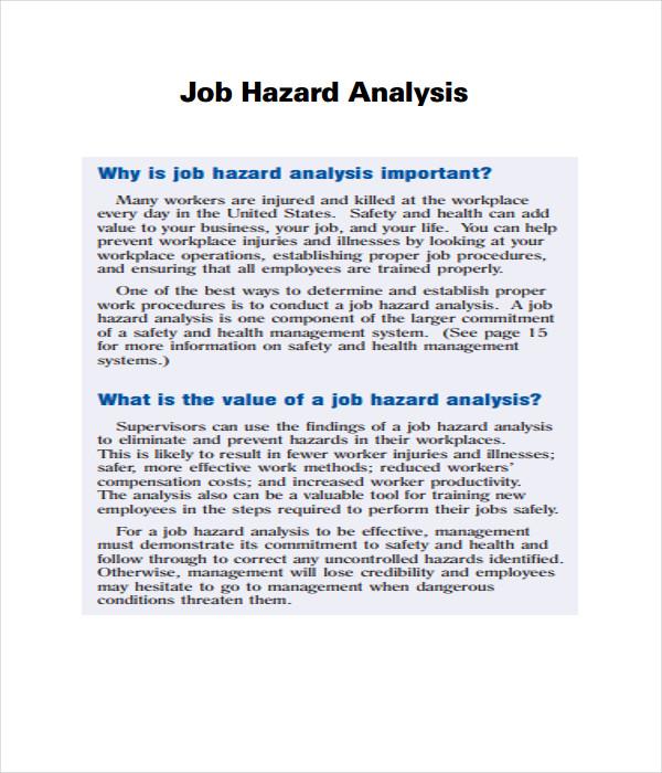 Hazard Analysis Templates
