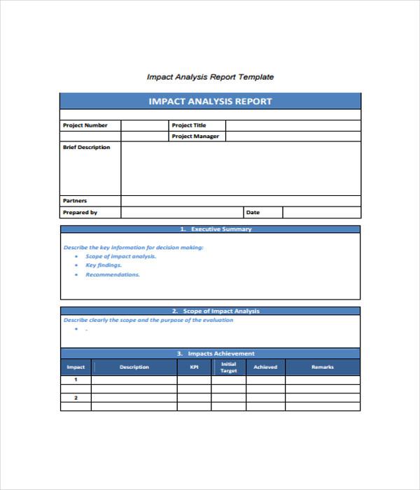 Impact Analysis Template