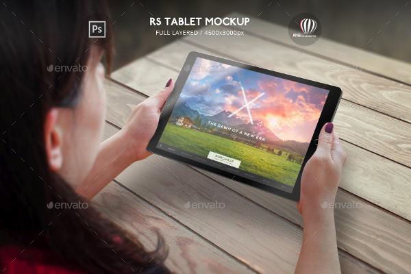 Interface Tablet Mockup