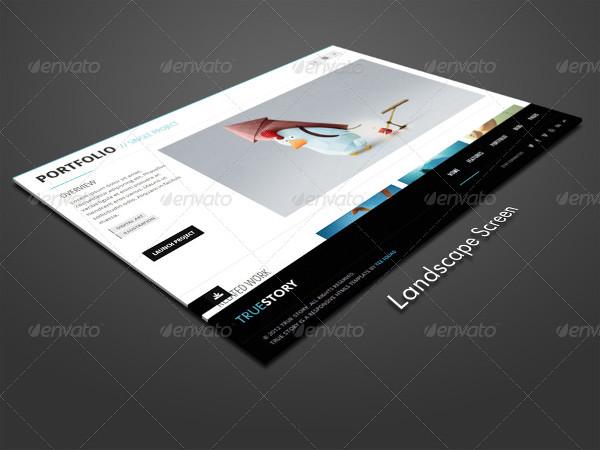 Landscape Tablet Mockup