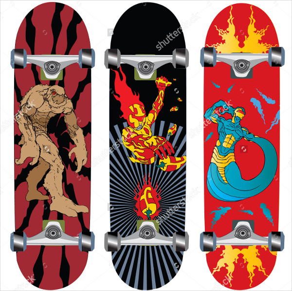 Monster Skateboard Design