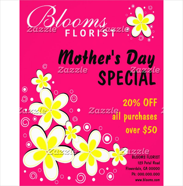 Freebie Mothers Day Flyer Template Design: 25+ Mother's Day Flyer Templates