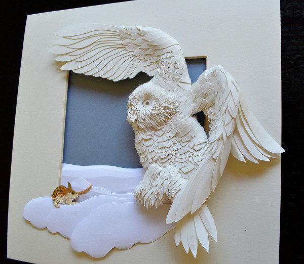 Owl Art Paper Animal
