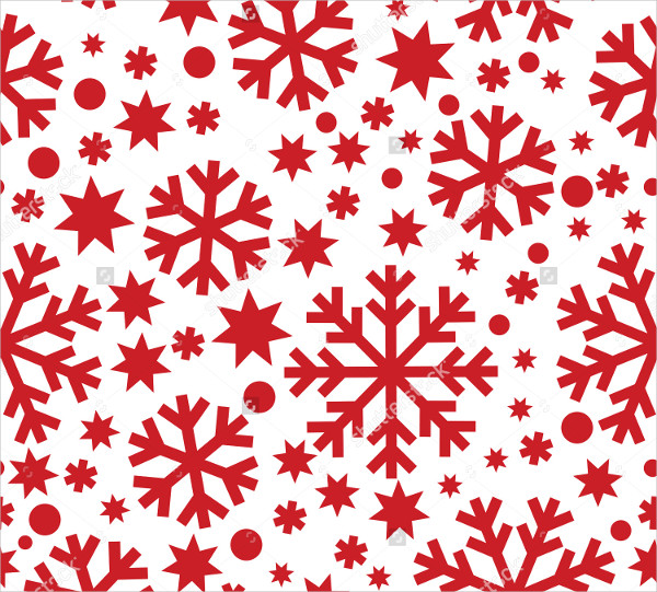 Red Snowflake Pattern