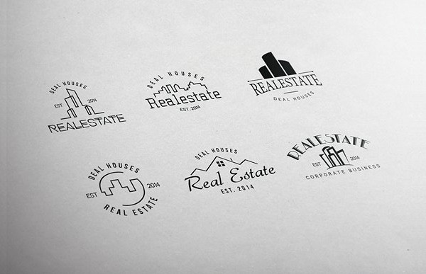 Retro Real Estate Badges