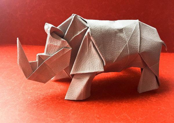 Rhinocers Art Paper Animal
