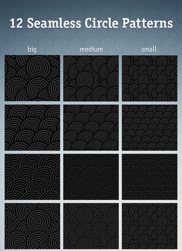Seamless Circle Photoshop Patterns