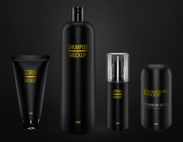 Cosmetic Package Mockups Set