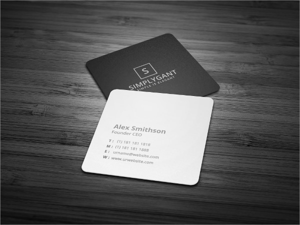 Square Minimal Business Cards