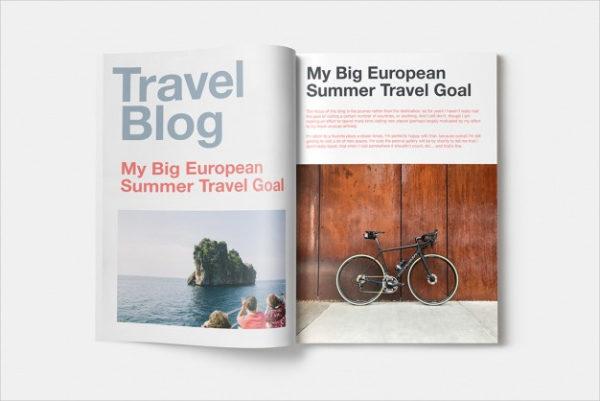 Free PSD Travel Magazine Mockup Design