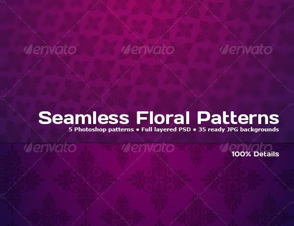 Tileable Floral Photoshop Patterns