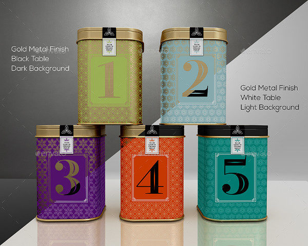Tin Cans Packaging Tea Design