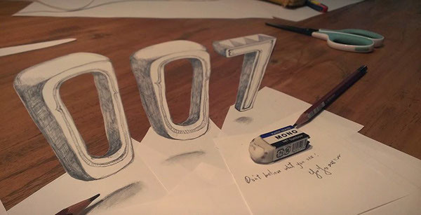 Typographic 3D Drawing