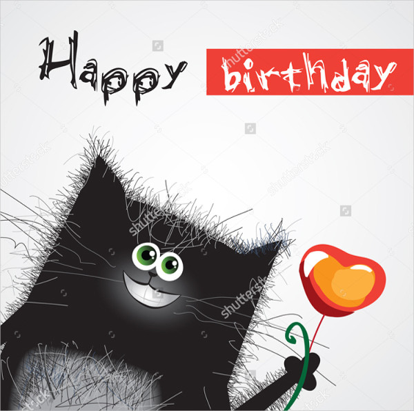Smiling Cat Funny Birthday Card