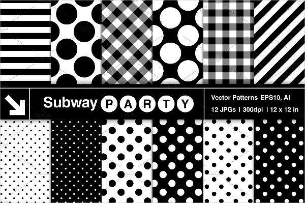 Vector Polka Dots Stripe Pattern