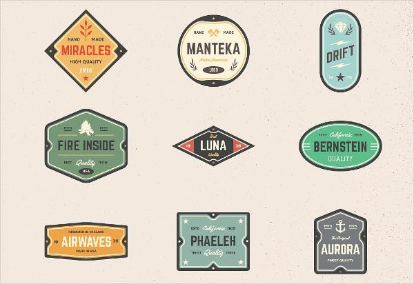 Vintage Classic Logo Badges