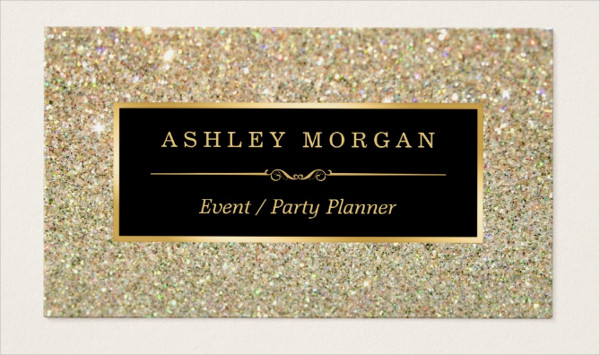 Wedding Event Planner Glitter Business Card