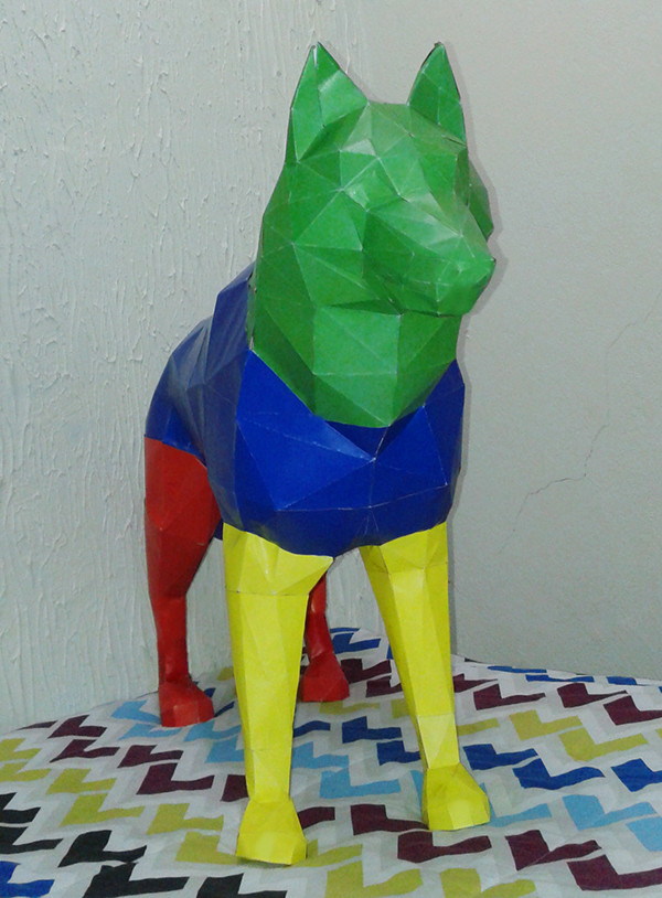 Wolf Art Paper Animal
