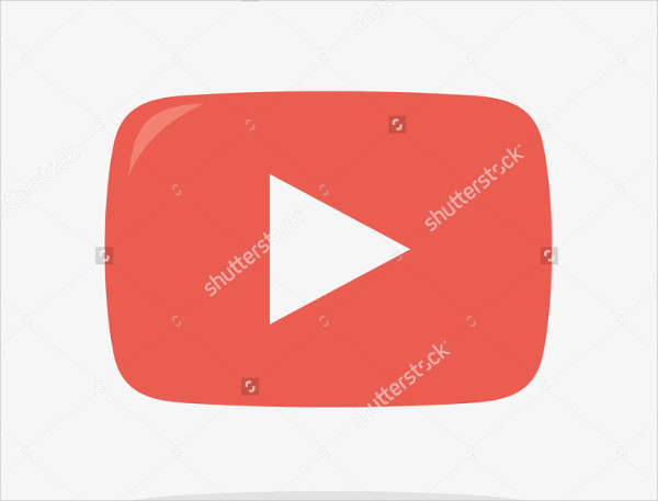 Youtube Play Icon in Vector