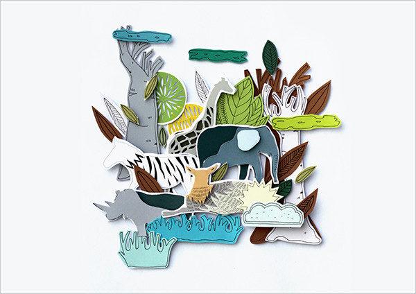 Zoo Art Paper Animal