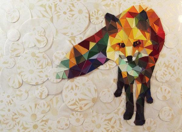 fox Art Paper Animal