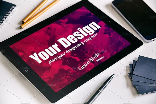 iPad tablet PSD Mockup