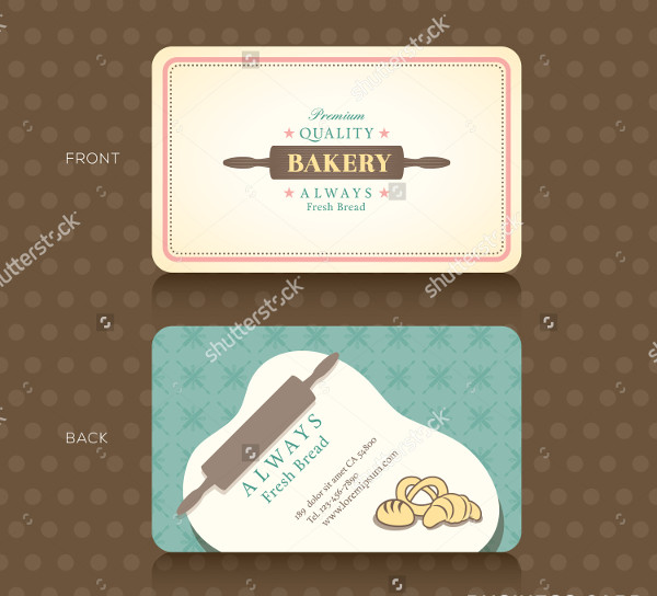 Bakery Shop With Rolling Pin Business Card