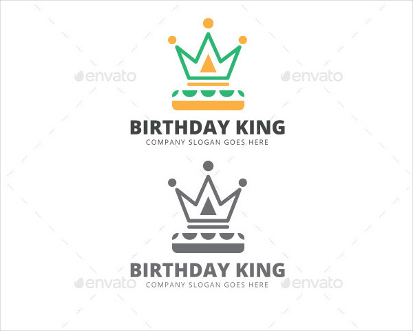 Birthday King Logo Template