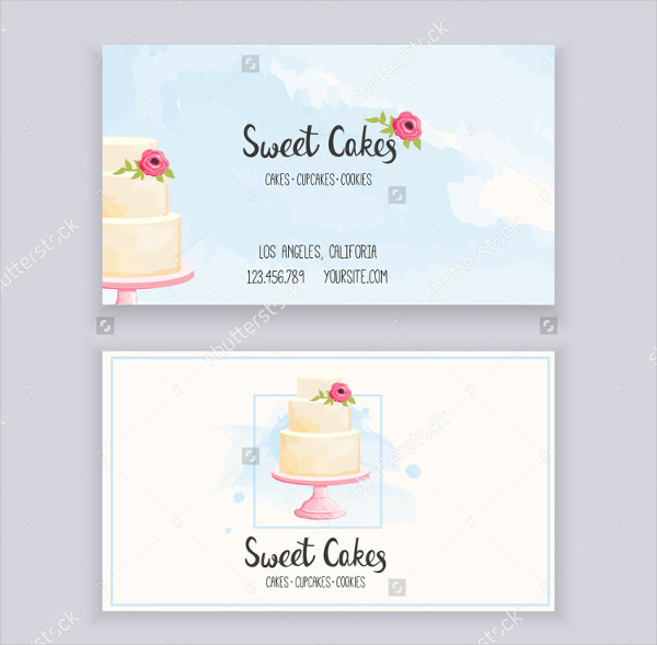 Business Card Template for Bakery