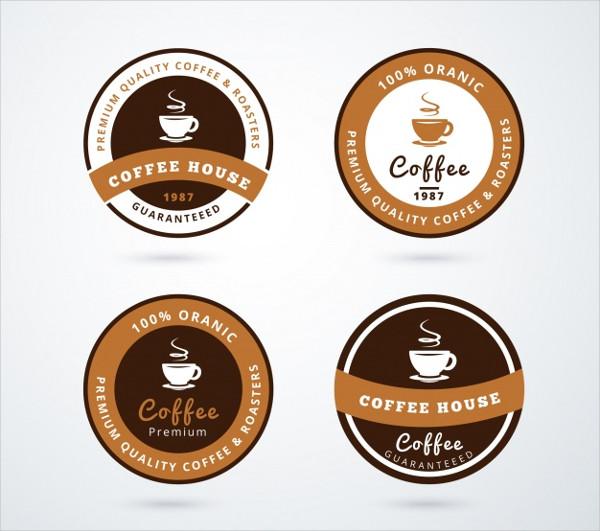 Coffee Logos Collection Free Vector