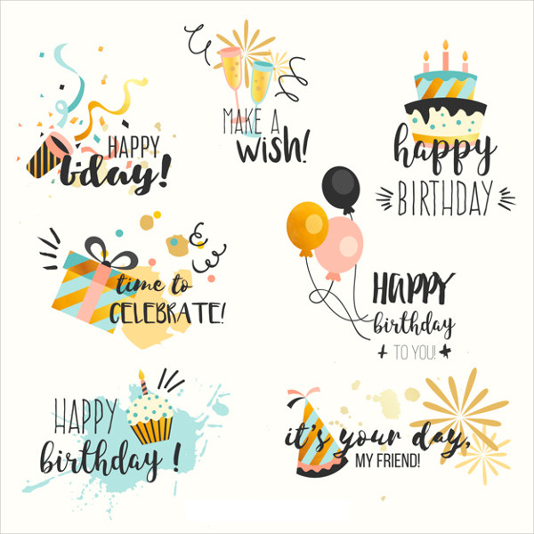 Free Birthday Stickers