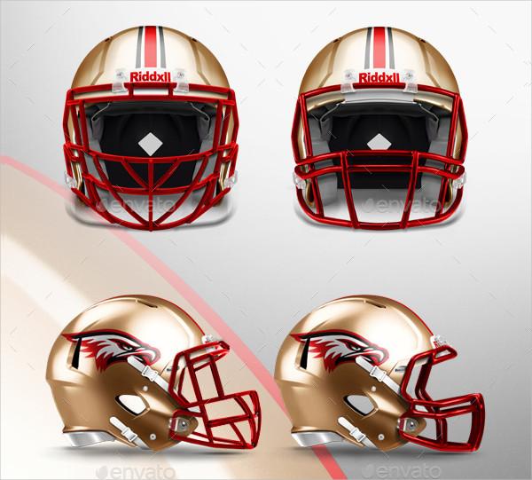 Full customizable Football Helmet Mockup