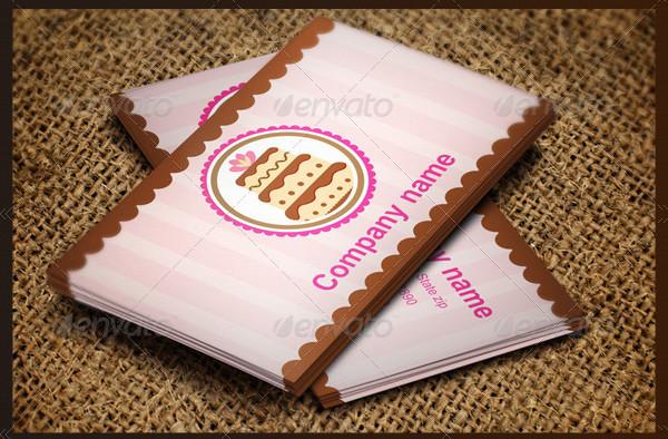 Fully Ediatable Bakery Business Cards