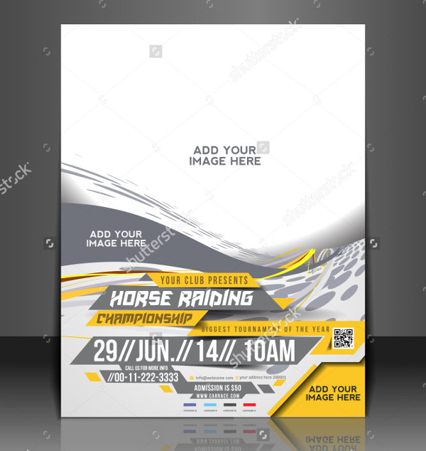 Horse Riding Flyer Template