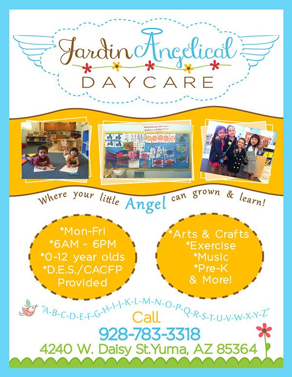 Jardin Angelical Day Care Flyers